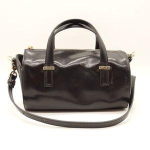NWT BRAHMIN Claire Satchel Black Topsail Leather